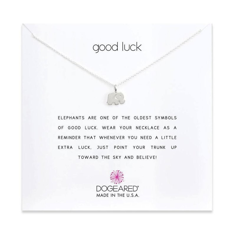 Dogeared Good Luck Elephant Necklace in Sterling Silver