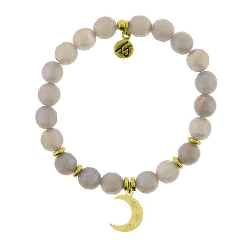 TJazelle Mystic Grey Agate - Friendship Stars Gold