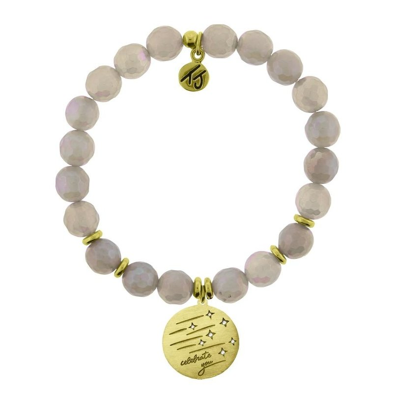 TJazelle Mystic Grey Agate - Birthday Wishes Gold
