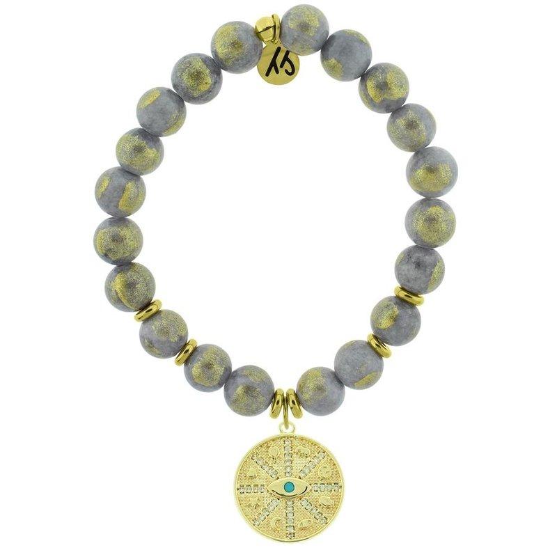 TJazelle Golden Grey Jade - Protection Gold