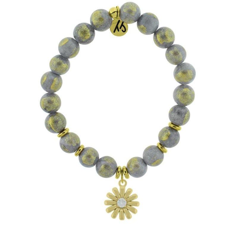 TJazelle Golden Grey Jade - Daisy Gold