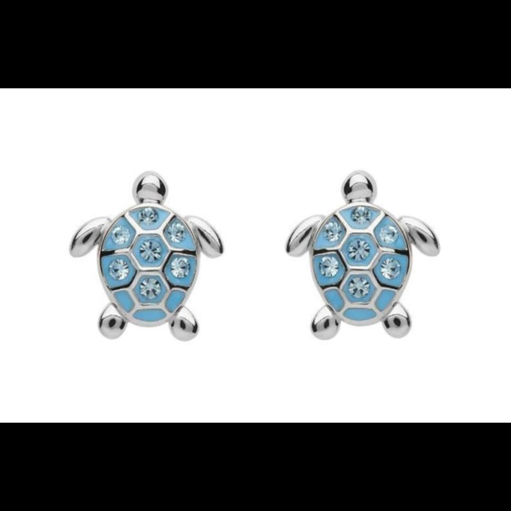 ShanOre ShanOre Sterling Silver Stud Turtle Crystal Earrings