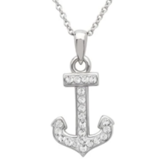 ShanOre ShanOre Sterling Silver SW Crystal Anchor Necklace