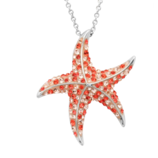 ShanOre ShanOre Sterling Silver Swarovski Star Fish Necklace
