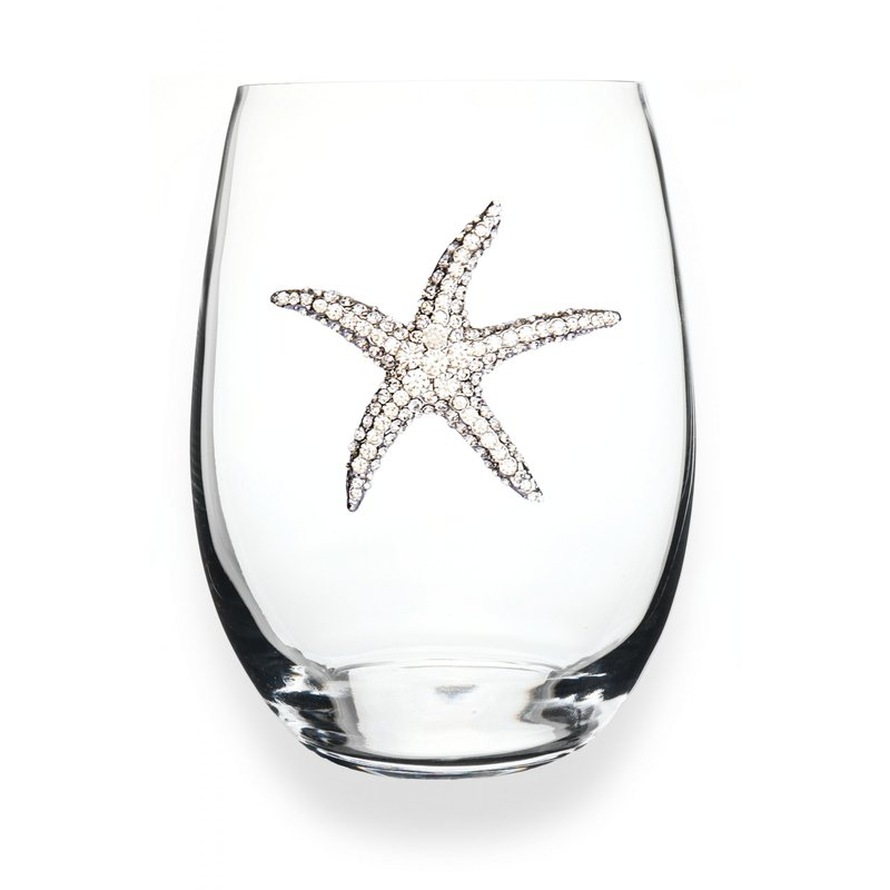 The Queen's Jewels Starfish Stemless Wine Glass