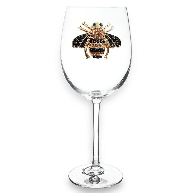 The Queen's Jewels Bee Stemmed Wine Glass