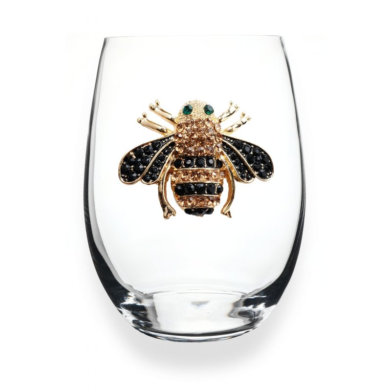 The Queen's Jewels Bee Stemless Wine Glass