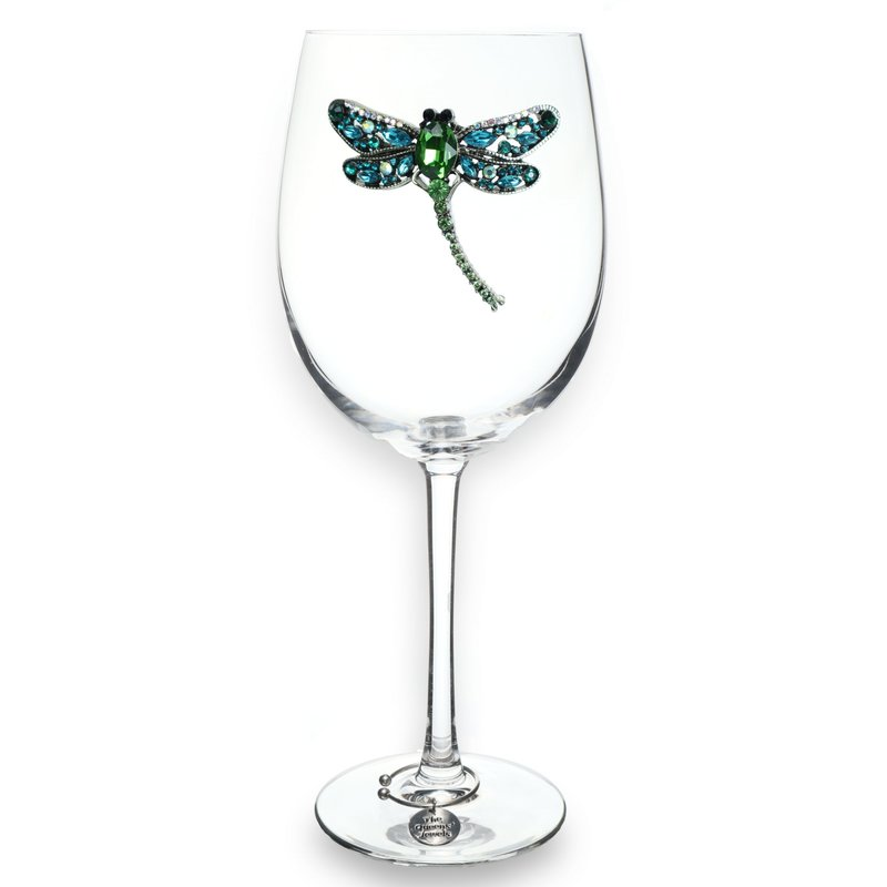 The Queen's Jewels Dragonfly Stemmed Wine Glass