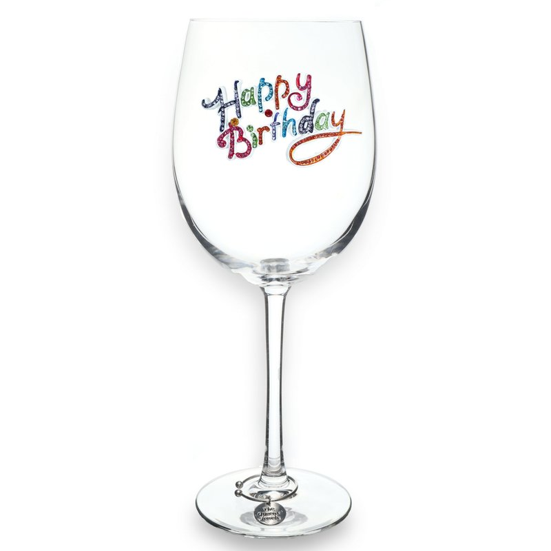 The Queen's Jewels Happy Birthday Stemmed Wine Glass