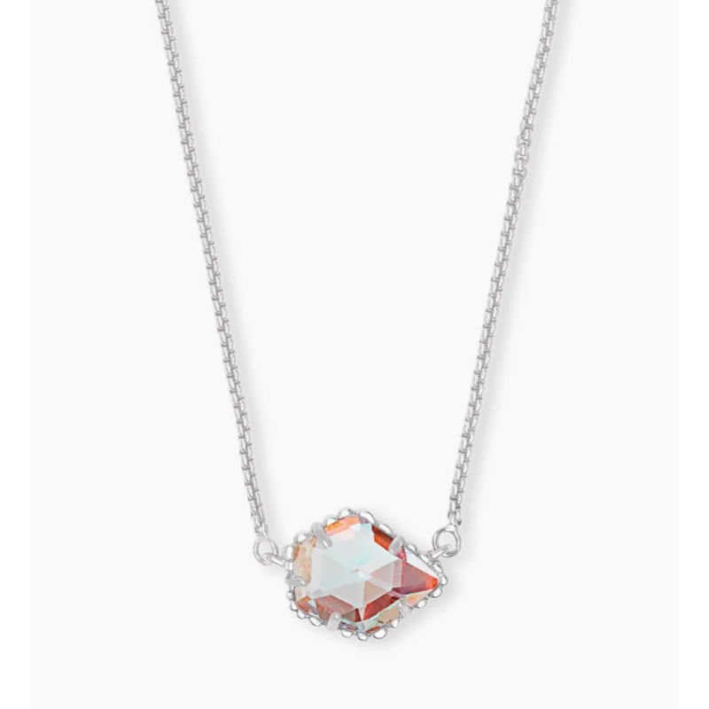 Kendra Scott Kendra Scott Tess Necklace Rhod Dichroic Glass