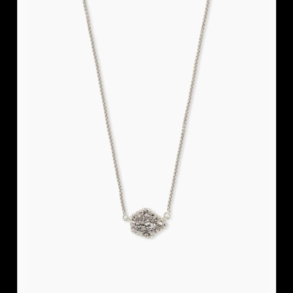 Kendra Scott Kendra Scott Tess Necklace Rhod Platinum Drusy