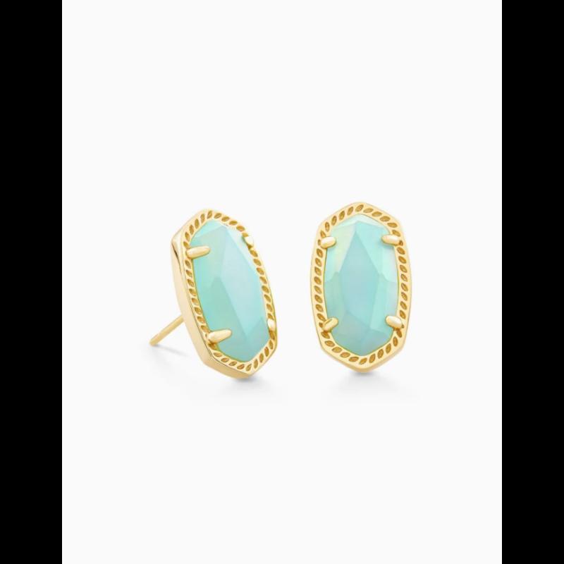 Kendra Scott Kendra Scott Ellie Gold Earring Matte Iridescent Mint