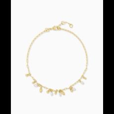 Kendra Scott Kendra Scott Mollie Anklet - Gold White Pearl
