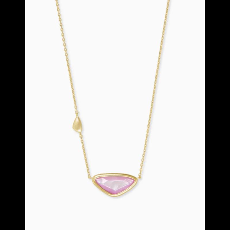 Kendra Scott Kendra Scott Margot Pendant Necklace - Gold Lilac MOP