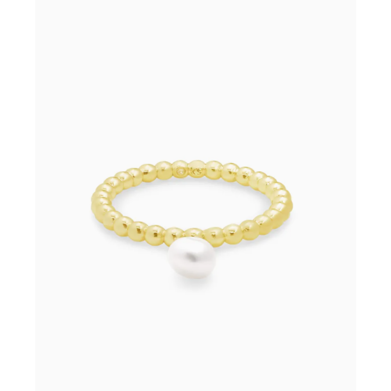 Kendra Scott Kendra Scott Lila Band Ring - Gold White Pearl (SZ 6)