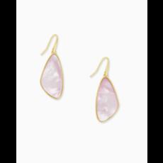 Kendra Scott Kendra Scott Mckenna Small Drop Earring - Gold Lilac MOP