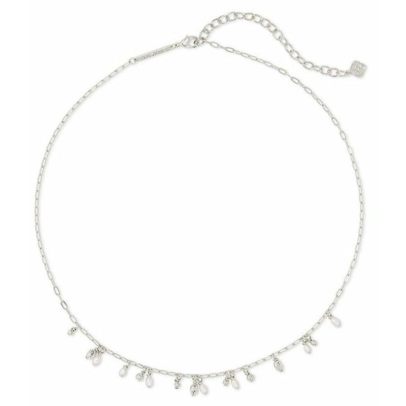 Kendra Scott Kendra Scott Mollie Choker Necklace RHOD White Pearl