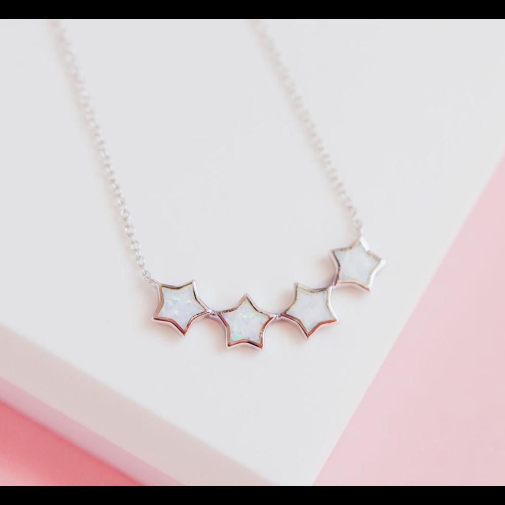 "Chloe & Lois Chloe & Lois ""Starry Night"" Necklace in White Opal"