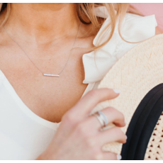 Chloe & Lois Chloe & Lois Sterling Silver Pavé Bar Layer Necklace