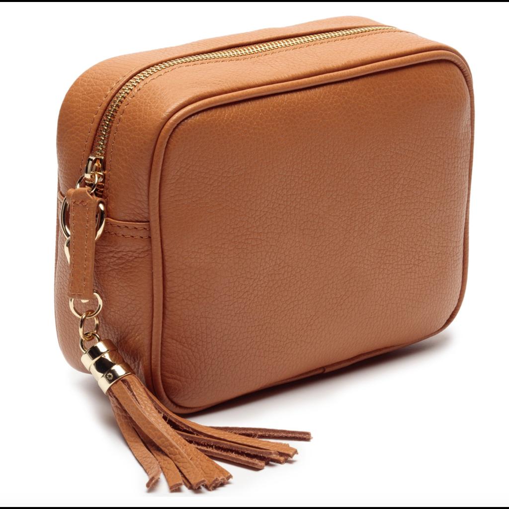 Handbag Elie Beaumont Crossbody Bag in Tan Leather