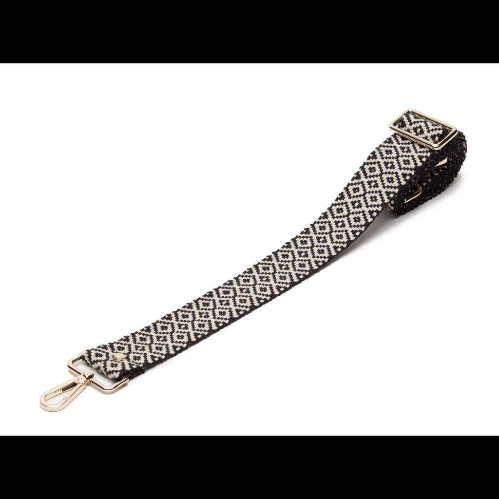 Handbag Elie Beaumont Knitted Diamond Crossbody Strap