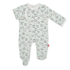 Magnetic Me Bun In A Million Magnetic Footie   6-9 Months