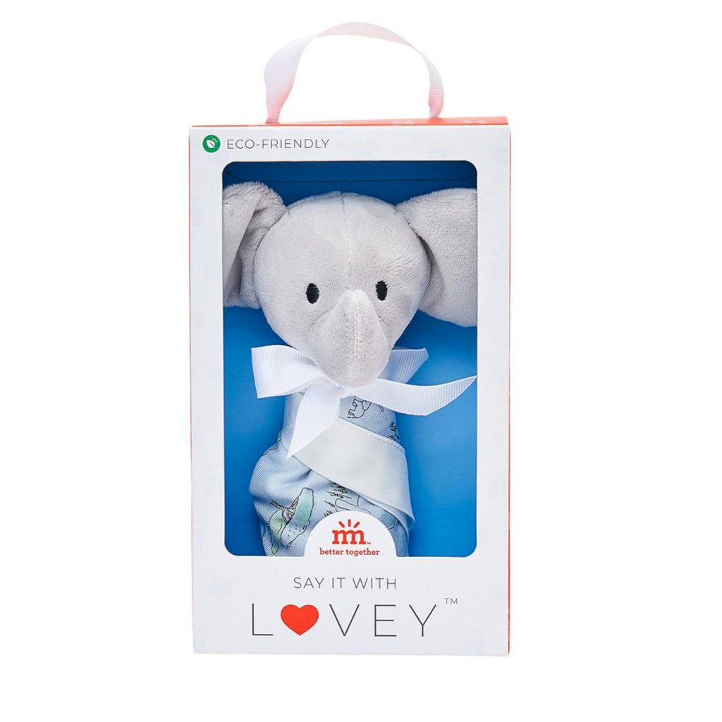 Magnetic Me Blue Love You a Ton Elephant Lovey Blanket
