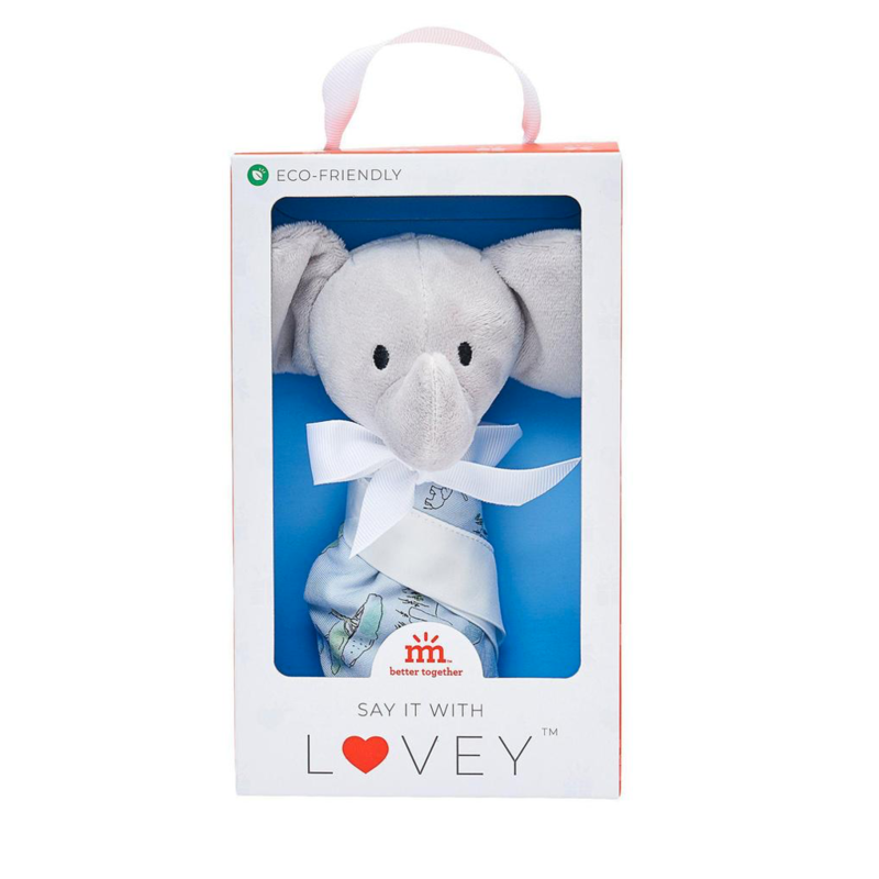 Magnetic Me Love You a Ton Elephant Lovey Blanket