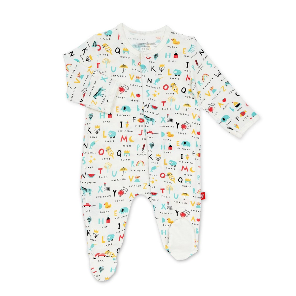 Magnetic Me Magnetic Me ABC Love Magnetic Footie 3-6 Months