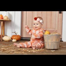 Mud Pie Mud Pie Orange Plaid Baby Bodysuit with Matching Headband