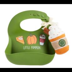 Mud Pie Mud Pie Pumpkin Spice Bib & Rattle Set