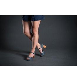 Chie Mihara Ankle Strap Wood Heel