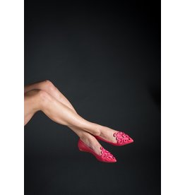 Guilhermina Embroidered Leather Pointed Toe (2 Colours Available)