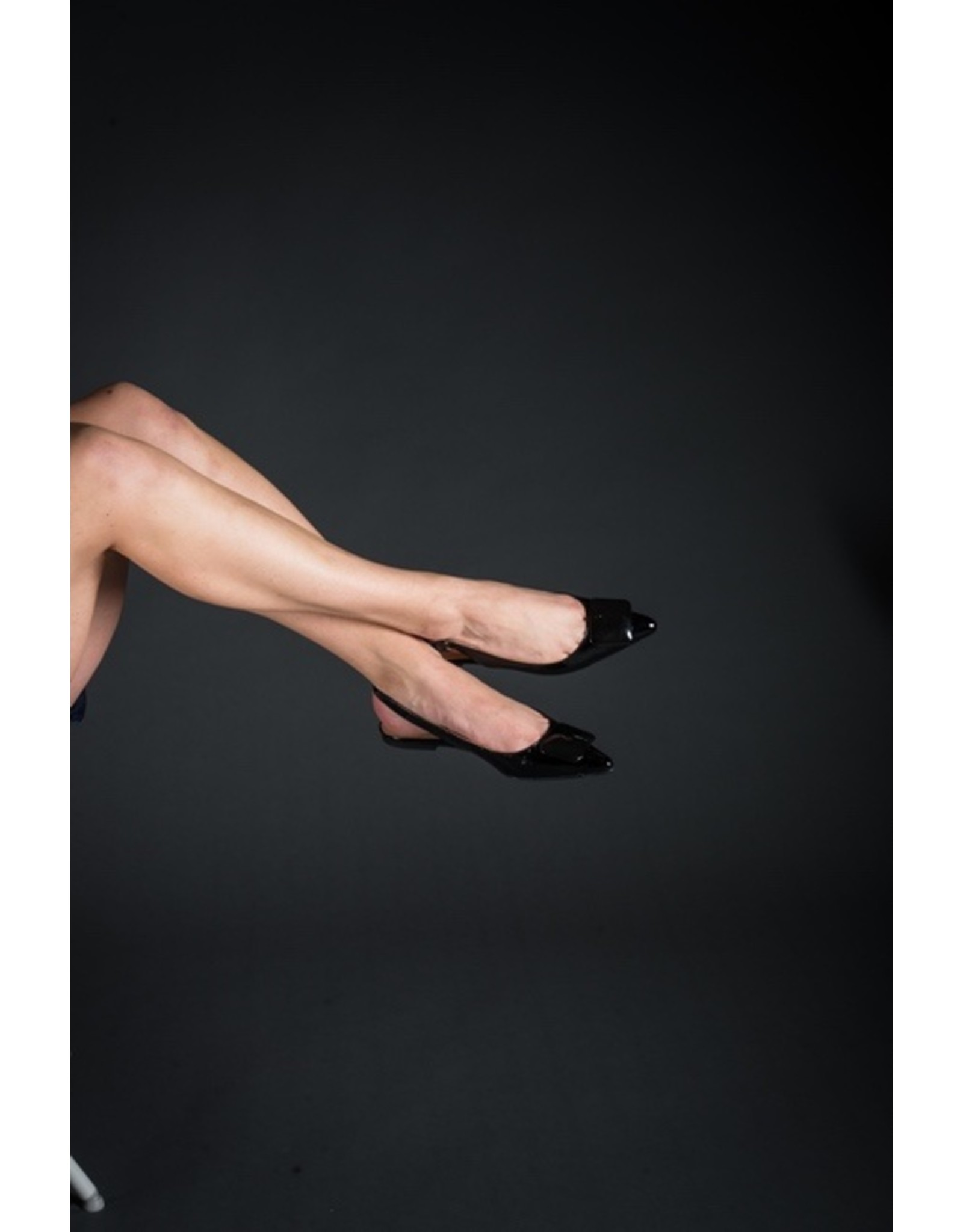 Luiza Barcelos Patent Sling Back w/Square, Flat