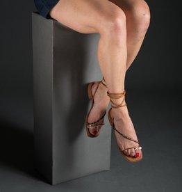 Luiza Barcelos Luiza Barcelos Cheetah/Cobra Ankle Wrap Sandal, Flat