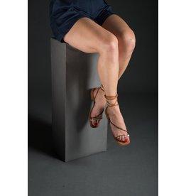 Luiza Barcelos Cheetah/Cobra Ankle Wrap Sandal