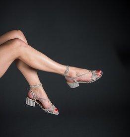 Luiza Barcelos Ankle Wrap Block Heel Sandal