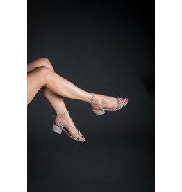 Luiza Barcelos Ankle Wrap Block Heel Sandal (Multiple Colours Available)