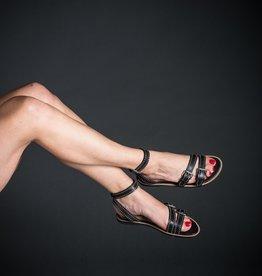 Vicenza Vicenza Tiny Studded Ankle Strap Sandal, Flat