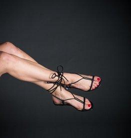 Vicenza Vicenza Ankle Wrap Grecian Thong Sandal, Flat