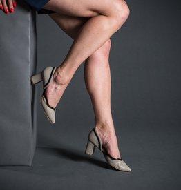 Lorraci Lorraci Pointed Toe Block Heel Mesh Pump