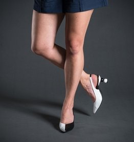 Marian Leather Slingback Kitten Heel