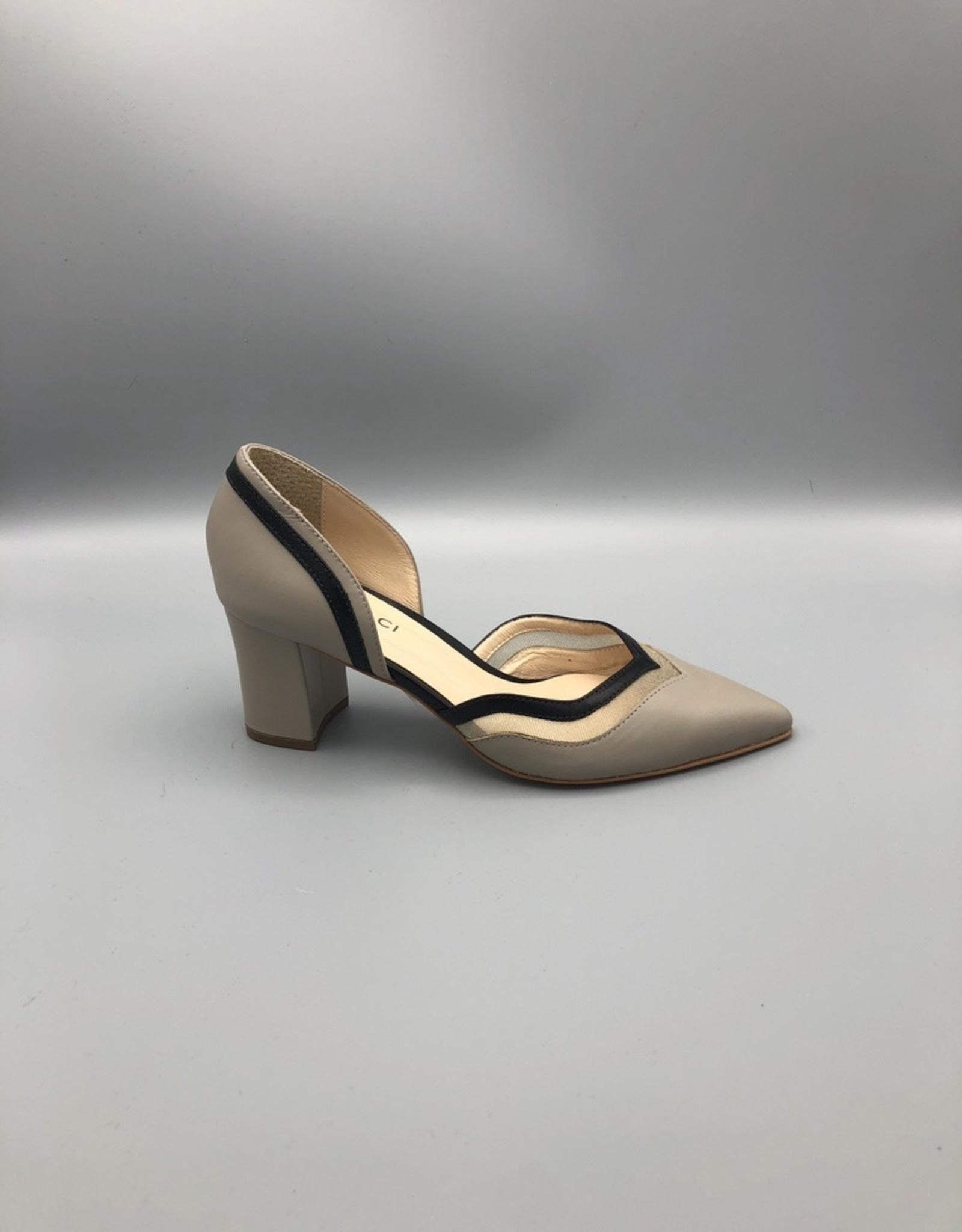 Lorraci Pointed Toe Block Heel Mesh Pump
