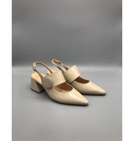 Luiza Barcelos Patent Strappy Block-V Heel