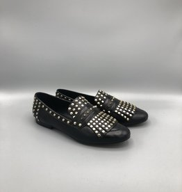 Carrano Bruno Menegatti Fringed & Studded Leather Loafer