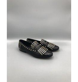 Bruno Menegatti Fringed & Studded Leather Loafer (2 Colours)