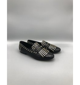 Fringed & Studded Leather Loafer (2 Colours)