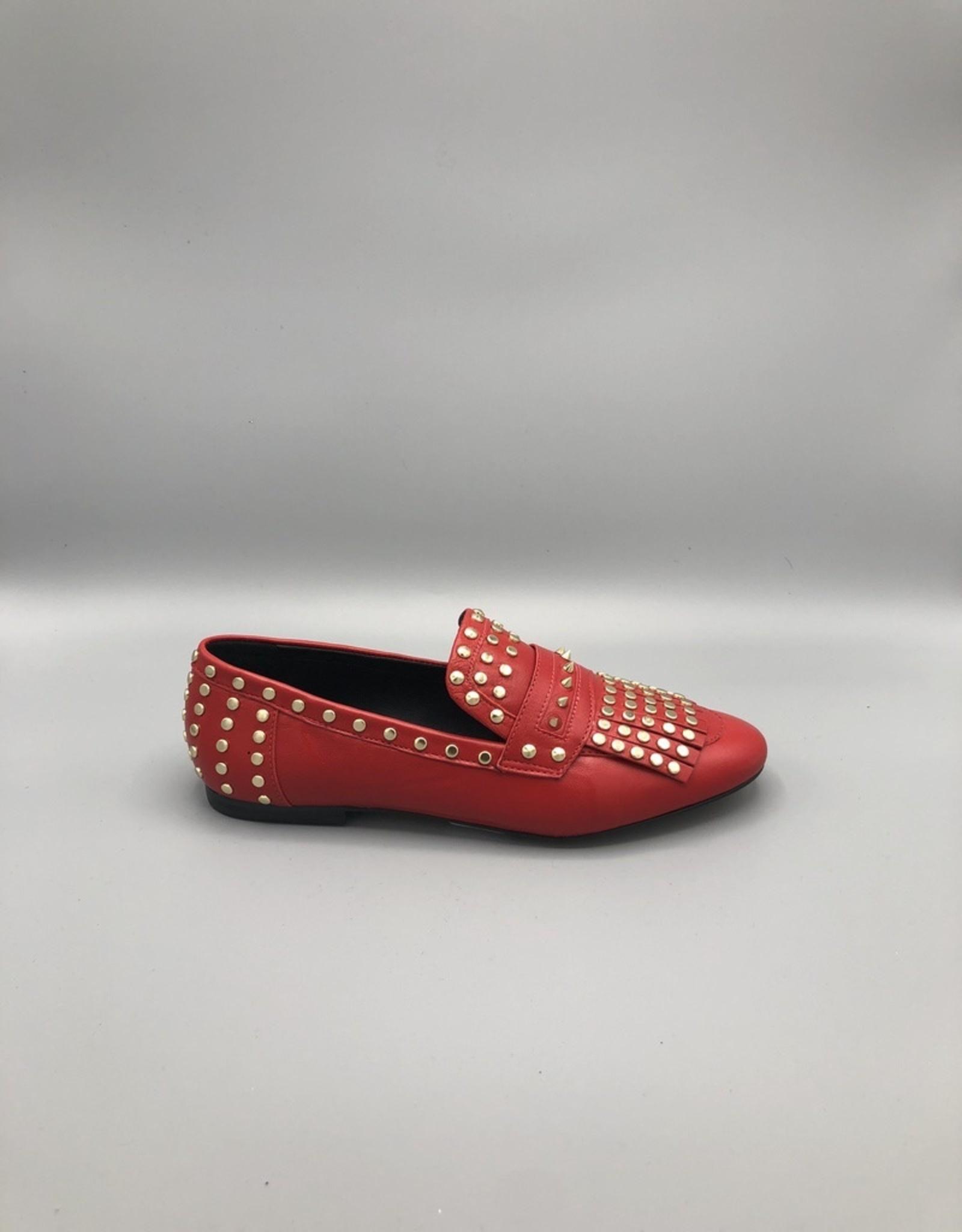 Carrano Bruno Menegatti Fringed & Studded Leather Loafer