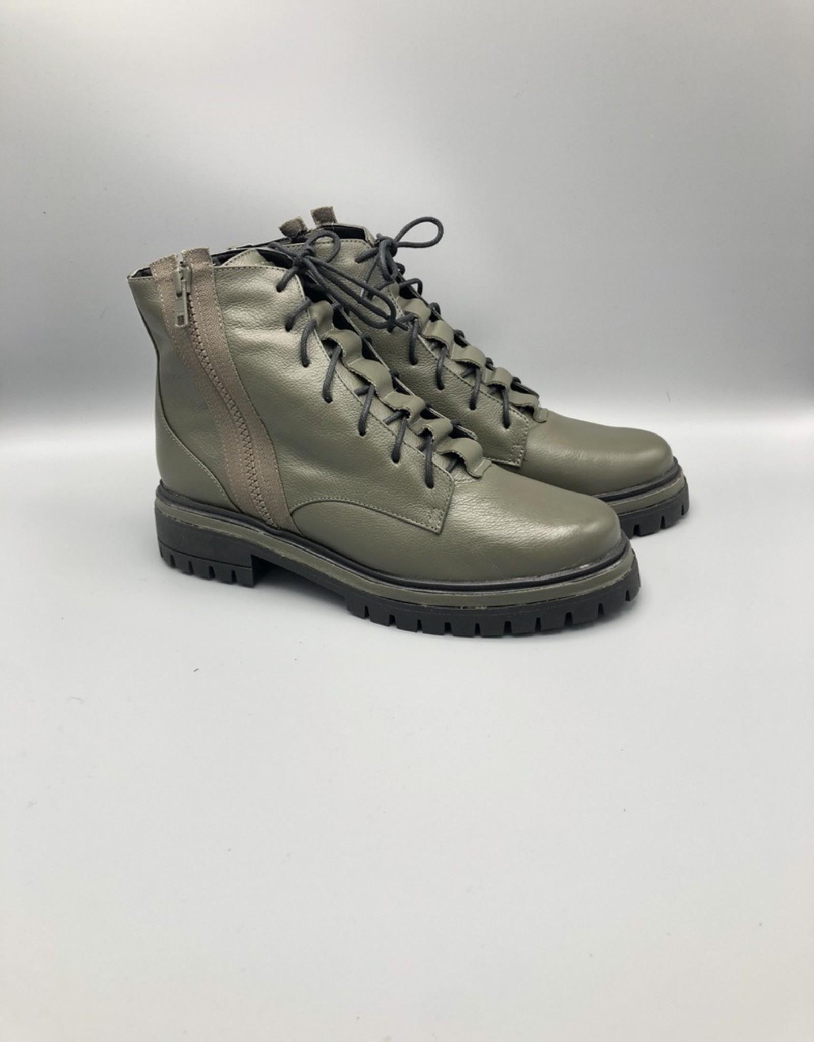 Maithe Side Zip Leather Combat Boot