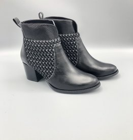 Maithe Braided Leather Round Toe Bootie